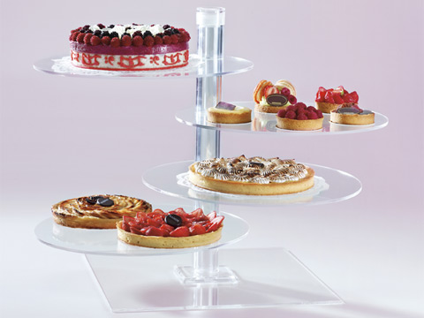 Plastic Buffet and Pastry Displays