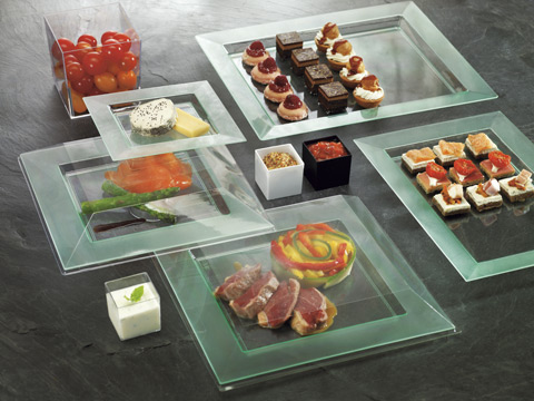 Disposable Plastic Plates and Trays
